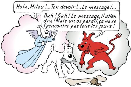 Milou dans Tintin